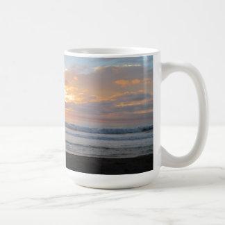 Sun Sets on Snoozing Elephant Seals Coffee Mugs