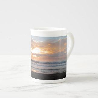 Sun Sets on Snoozing Elephant Seals Tea Cup