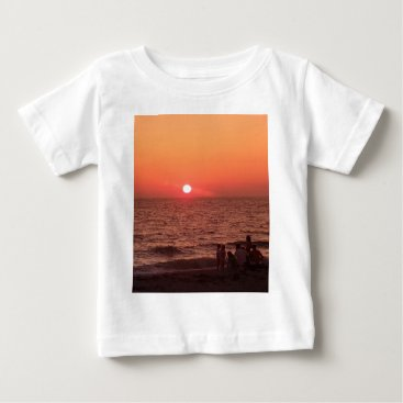 Beach Themed Sun Sets Over the Gulf Baby T-Shirt