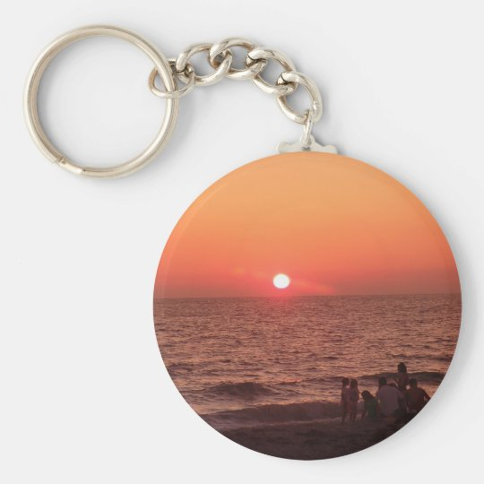 Sun Sets Over the Gulf Keychain