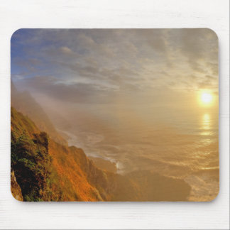 Sun sets over the Pacific Ocean from Heceta Mouse Pad