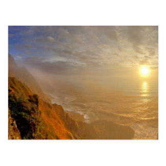 Sun sets over the Pacific Ocean from Heceta Post Card
