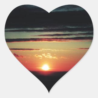 Sun Setting Heart Sticker