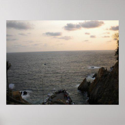 Sun Setting In Acapulco Print