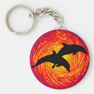 SUN SETTING JUMPERS BASIC ROUND BUTTON KEYCHAIN