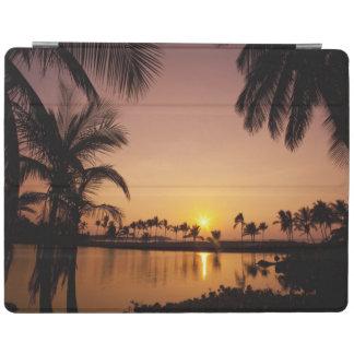 Sun setting on Anaeho omalu Bay Big Island iPad Cover