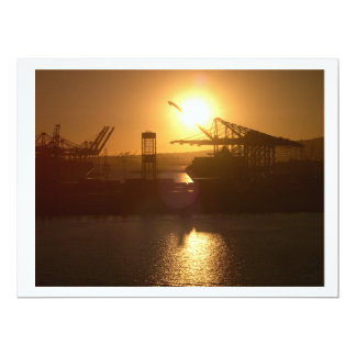 Sun setting on Industry Card