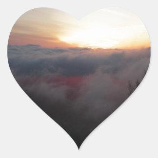 Sun Setting on Palomar Heart Sticker