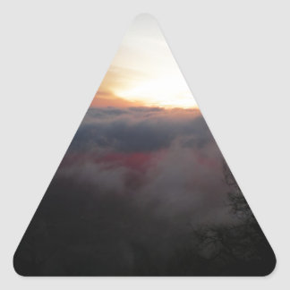 Sun Setting on Palomar Triangle Sticker