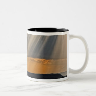 Sun setting on the Masai Mara. Two-Tone Coffee Mug
