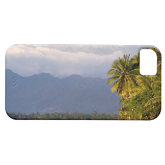 Sun Setting On Volcano With Tropical Beach iPhone SE/5/5s Case