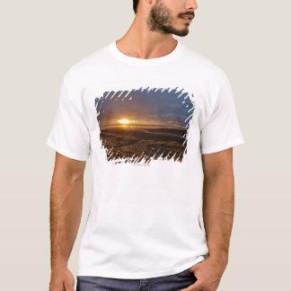 Sun setting over Tasman Sea and Piha Beach, West T-Shirt