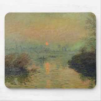 Sun Setting over the Seine at Lavacourt Mouse Pad