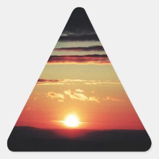 Sun Setting Triangle Sticker