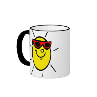Sun Shades Ringer Mug