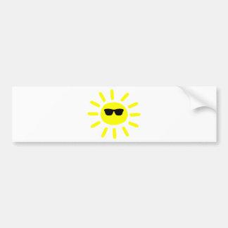 Sun Shades Sun Car Bumper Sticker