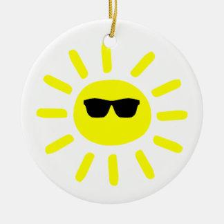 Sun Shades Sun Ceramic Ornament