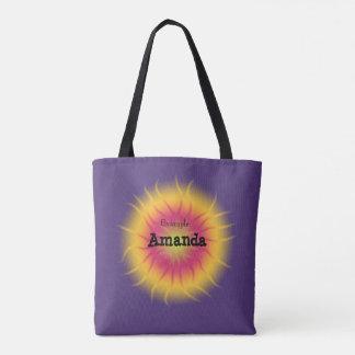 Sun Shape with Purple Tote Bag