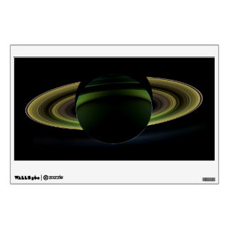 Sun Shining Behind Planet Saturn Casting a Shadow Wall Decal