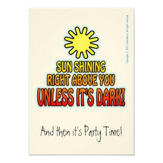 SUN SHINING FUNNY PARTY INVITATION