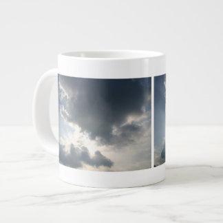 Sun shining through the clouds jumbo mugs