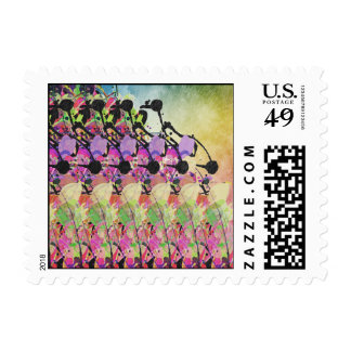 Sun Showers On Flowers Postage