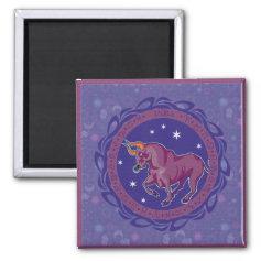 Sun Sign Taurus Magnet
