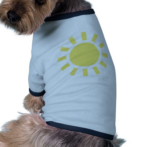 Sun: Símbolo de tiempo retro Camisas De Mascota