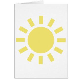 Sun: Símbolo de tiempo retro Tarjeta De Felicitación