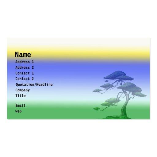 Sun, Sky & Earth Business Card