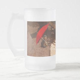 Sun_Smart,_Funny_Meerkat,_Big_Frosted_Glass_Mug Frosted Glass Beer Mug