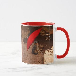 Sun_Smart,_Funny_Meerkat,_Red_Ringer_Coffee_Mug Mug