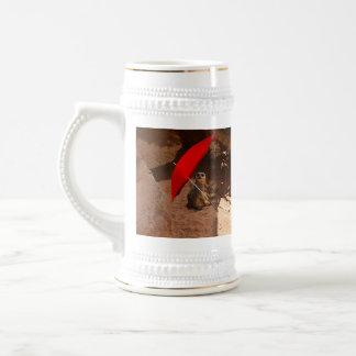Sun_Smart,_Funny_Meerkat,_White_Beer_Stein_Mug Beer Stein