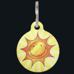 """Sun Smile Pet ID Tag<br><div class=""""desc"""">Your always-chipper pet is a constant golden ray of sunshine in your life, so give him/her one of our pet ID tags that will show it off to the fullest - the &#39;Sun Smile Pet ID Tag!&#39; Your cat or dog never fails to bring a smile to your face, especially...</div>"""