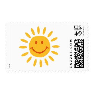 Sun - smile postage stamp