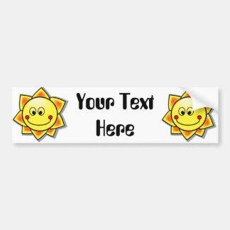 Sun Smiley, Happy Sun Bumper Sticker