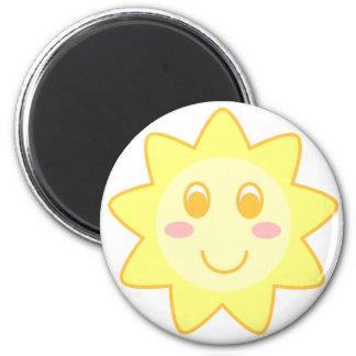 Sun Smiley Magnet