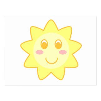 Sun Smiley Postcard