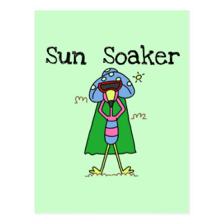 Sun Soaker Flamingo Tshirts and Gifts Postcard