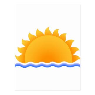 Sun sobre el agua postal