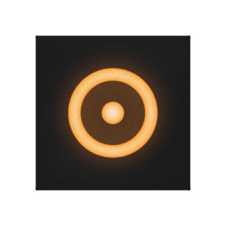 Sun/Sol Glowing Orange on a Black Background Canvas Print