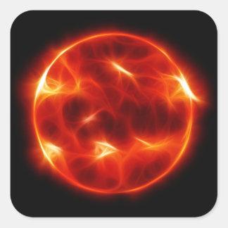 Sun Sol Solar Star Sphere Square Sticker