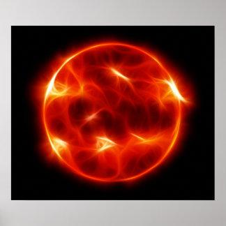 Sun Sol Star Sphere Print