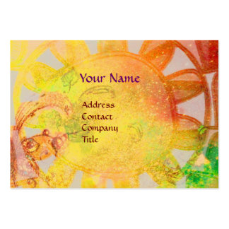 SUN SOLAR ENERGY  MONOGRAM Yellow Blue Brown Large Business Cards (Pack Of 100)