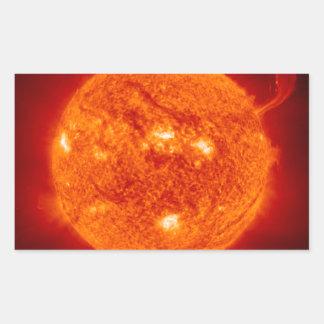 Sun Solar Flare Photograph NASA Rectangular Sticker