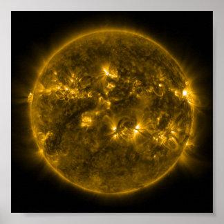 Sun Solar Flares Poster