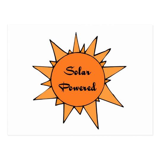 Sun Solar Powered Postcard