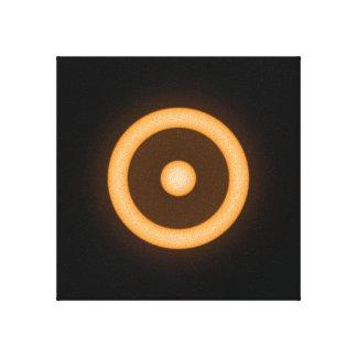 Sun/solenoide que brilla intensamente anaranjado impresion de lienzo