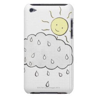 Sun sonriente 2 iPod touch carcasa