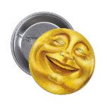 Sun sonriente pin redondo de 2 pulgadas